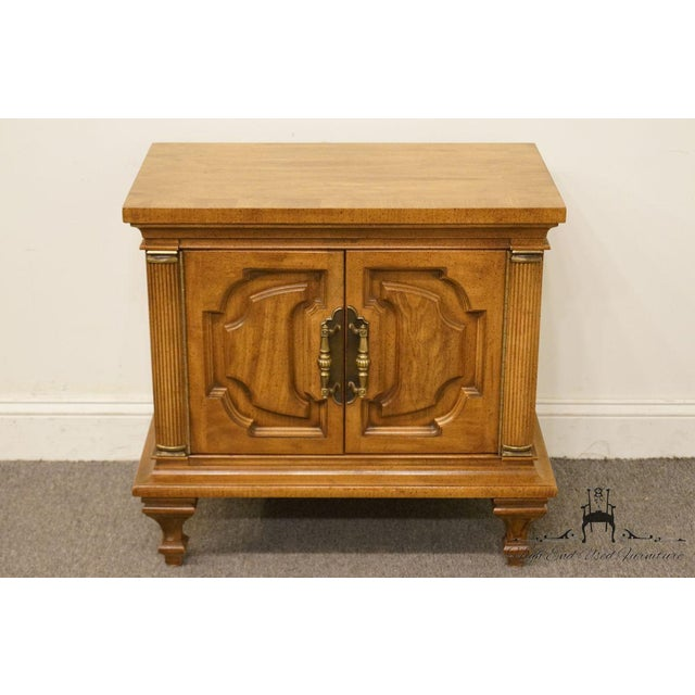 "Unique Winston-Salem Italian Tuscan style 28"" cabinet nightstand. We specialize in high end used furniture that we..."