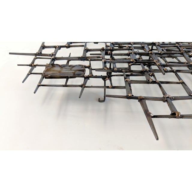 2010s Bronze Brass Brutalist Nail Wall Sculpture For Sale - Image 5 of 12