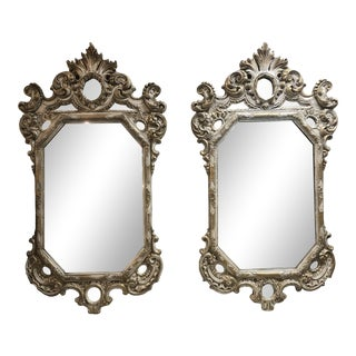 Antique Wood and Gesso Italian Mirrors For Sale