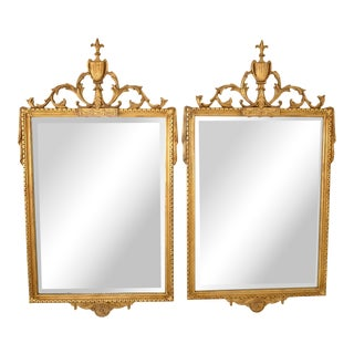 Pair of Adams-Style Giltwood Mirror by Friedman Brothers For Sale