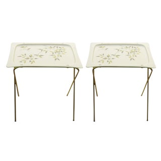 Groovy Mid-Century Tv Tray Tables, a Pair