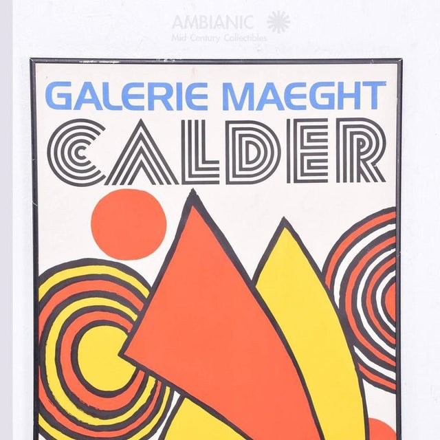 For your consideration a vintage lithograph poster : Galerie MAEGHT, CALDER. Printed in France. Original aluminum frame in...