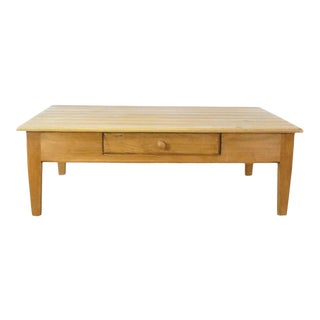 Pottery Barn Oak Coffee Table For Sale