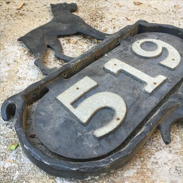 Bulldog Curb and Lawn Address Vintage Marker For Sale In Nashville - Image 6 of 11