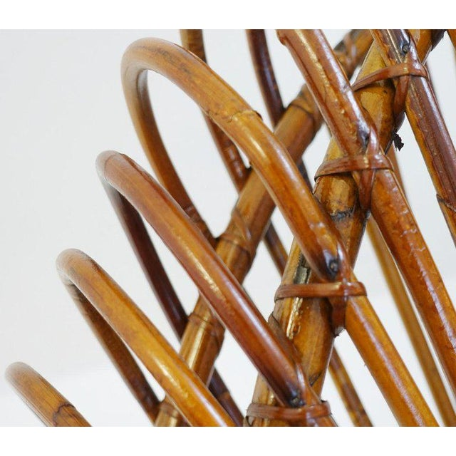 Rattan Sculptural Rattan Lounge Chair by Franco Albini For Sale - Image 7 of 8