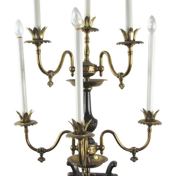Large-Scale 6-Light Cherub Sconce - Image 5 of 5