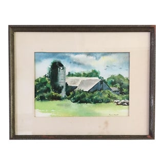 Vintage Amagansett NY Watercolor For Sale