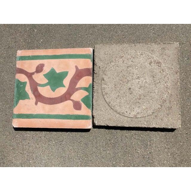 Metal Moroccan Encaustic Cement Tile Sample For Sale - Image 7 of 9