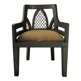 Art Deco Metal Wrapped Chair For Sale