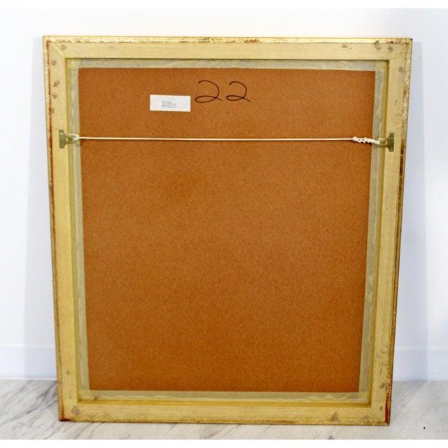 Mid-Century Modern Gold Gilt Framed Lithograph Signed by Graciela Boulanger For Sale In Detroit - Image 6 of 7