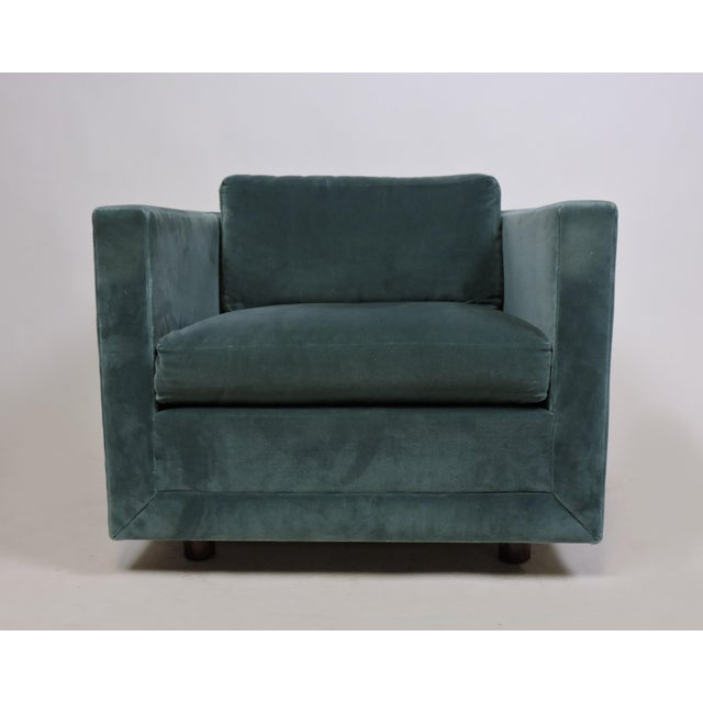 Mid-Century Modern Wormley Probber Style Cube Lounge Chair For Sale - Image 11 of 12