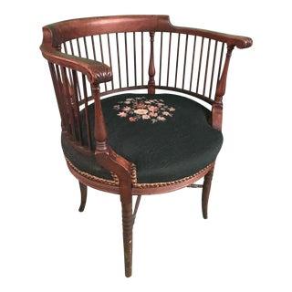 Needlepoint Round Corner Chair