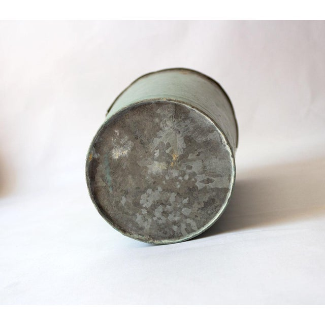 Vintage Turquoise Galvanized Metal Vessel For Sale In Dallas - Image 6 of 8