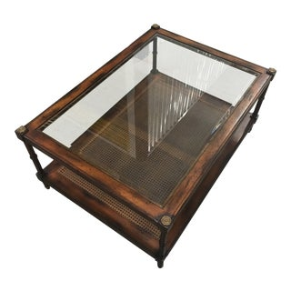 Sherrill Wood and Glass Top Occasional/ Coffee Table