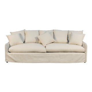 "Sarreid Ltd. Parnell Ecru ""Frost"" Sofa For Sale"