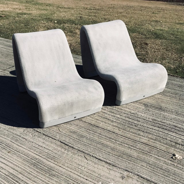 Modern Sakura Narrow-Backed Armchairs- A Pair For Sale - Image 3 of 12