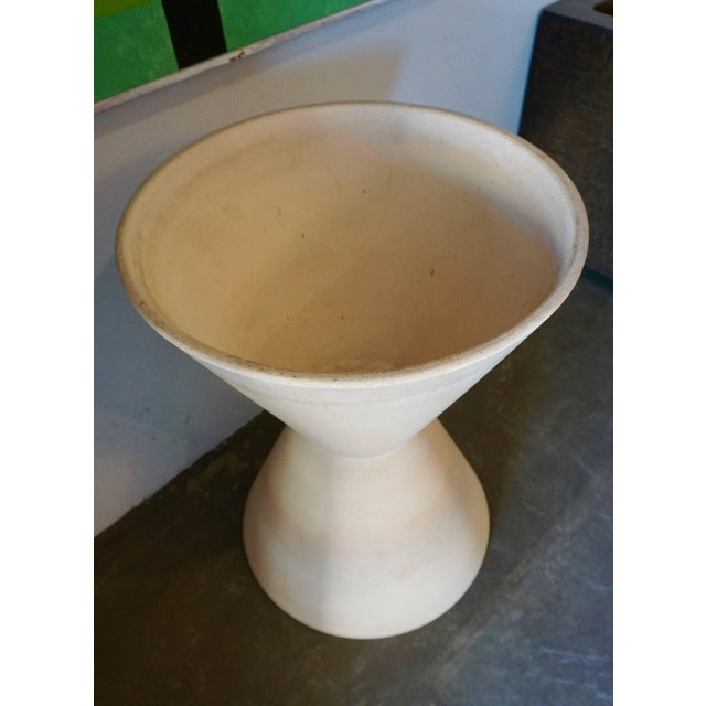 Ceramic Large Double Cone Bisque Planter by La Gardo Tackett For Sale - Image 7 of 7