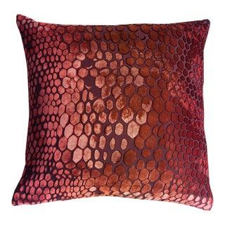 Wildberry Snakeskin Velvet Pillow