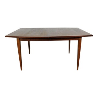 "Mid-Century Modern Walnut Surfboard Dining Extension Table 98"" For Sale"