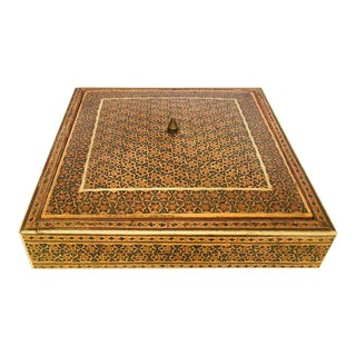 Moorish Micro Sadeli Mosaic Inlaid Jewelry Box For Sale