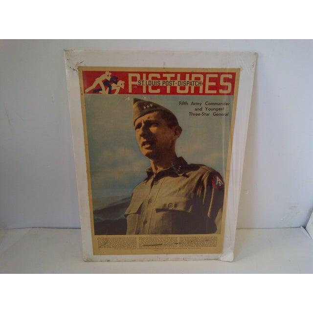 Mid-Century Modern Vintage World War II News Print For Sale - Image 3 of 8
