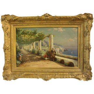 """Contemplation, a View on Capri"" Bernardo Hay Painting For Sale"