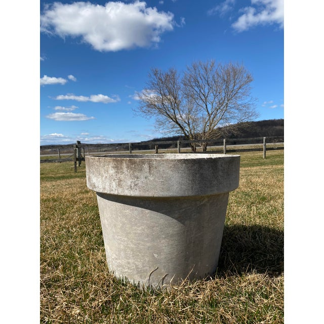 A big fiber concrete pot designed and manufactured by Eternit Switzerland. We have one immediately available of this size....