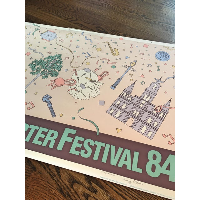 """Vintage """"French Quarter Festival 84"""" Lithographic Poster - Image 6 of 11"""