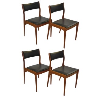 Johannes Andersen for Uldum Mobelfabrik Danish Teak Dining Chairs For Sale