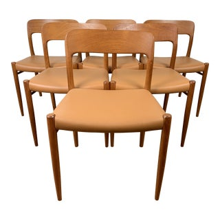 1970s Vintage Niels Moller No. 75 Chairs- Set of 6 For Sale