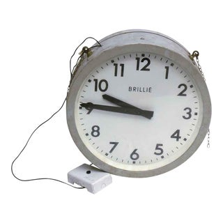 Double Sided Round Brille Clock For Sale