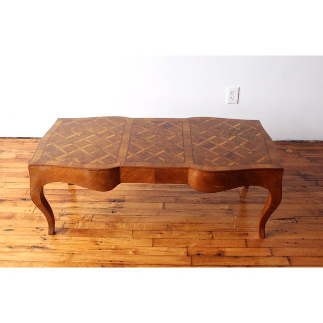 Wood 1950s Vintage Italian Walnut Cocktail Table For Sale - Image 7 of 7