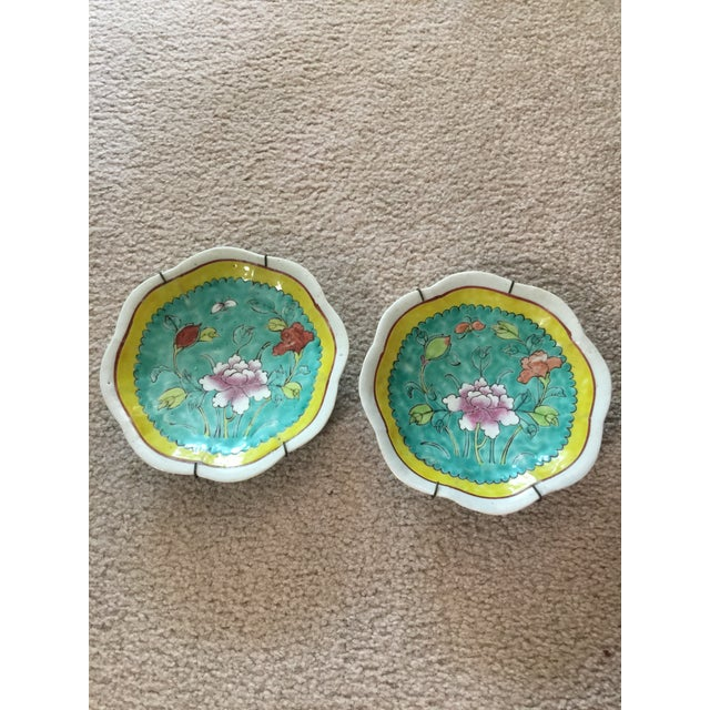 1930's Chinese Ceramic Painted Plates - a Pair For Sale - Image 9 of 9