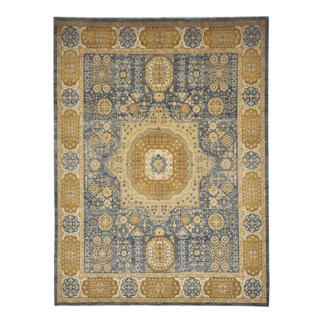 Mamluk Hand Knotted Wool Area Rug - 8'3 X 11'1 For Sale