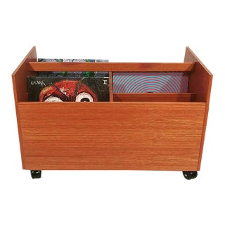 Teak Cart for your vinyl For Sale