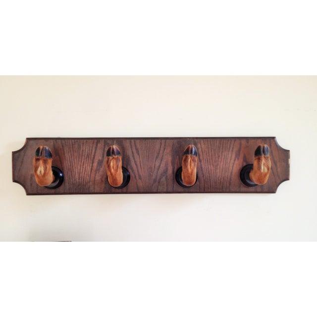 Vintage Deer Hoof Mounted Rack-German Taxidermy - Image 2 of 4