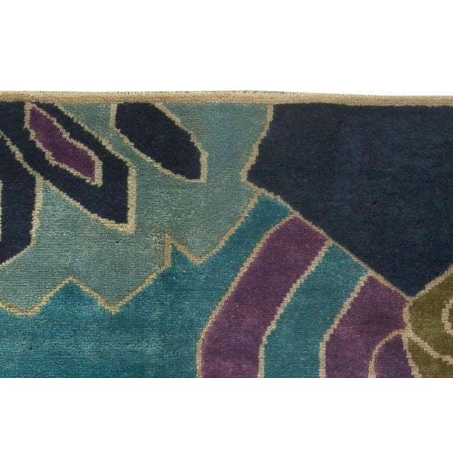 Mid 20th Century Bold Vintage French Art Deco Rug For Sale - Image 5 of 8