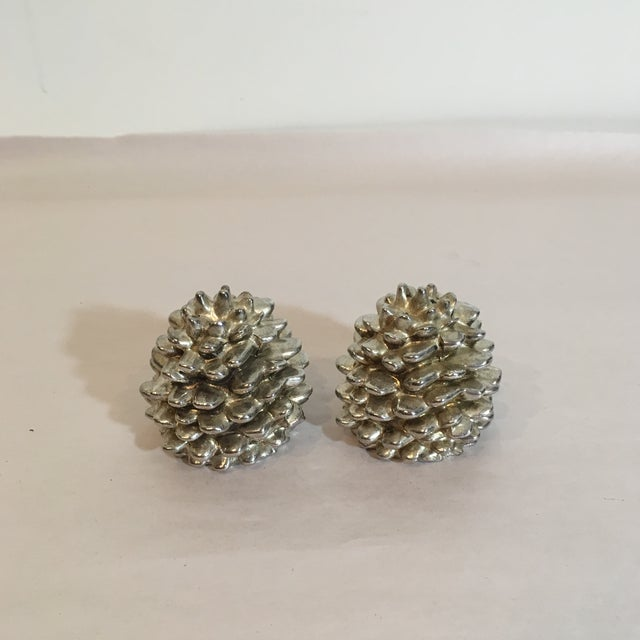 Godinger Silver Art Pinecone Salt & Pepper Shakers - A Pair - Image 2 of 6