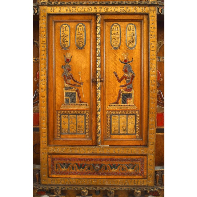 Early 20th Century Egyptian Style Painted Hanging Wall Cabinet For Sale - Image 5 of 10