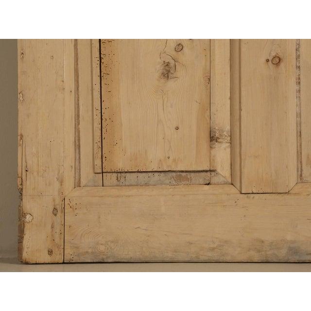 Pine Antique Irish Scrubbed Pine Interior Door For Sale - Image 7 of 10