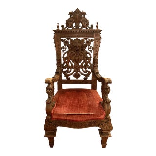19th Century Throne Chair Manner or Herter Brothers For Sale