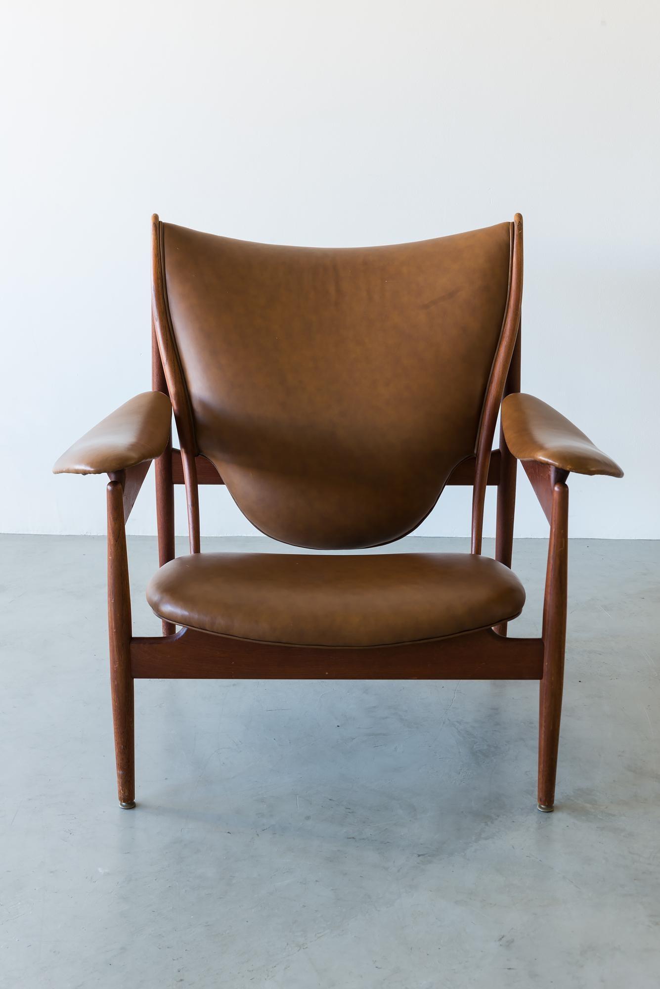 A Nice Example Of Finn Juhlu0027s Rare Chieftain Chair By Niels Vodder In  Cognac/brown