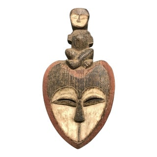 1990s Gabonese Kwele Mask For Sale