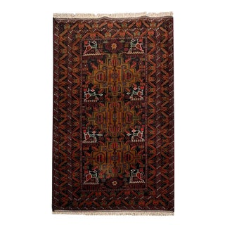 Pakistani Tribal Hand-Knotted Rug - 3′8″ × 6′5″ For Sale