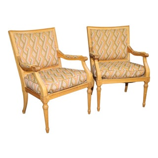 Louis XV Fruitwood Bergeres For Sale