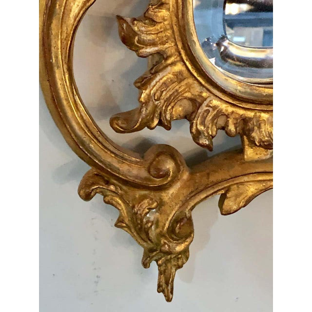 Pair of Louis XV Style Gilt Wall Console or Pier Mirrors With Beveled Glass For Sale In New York - Image 6 of 12