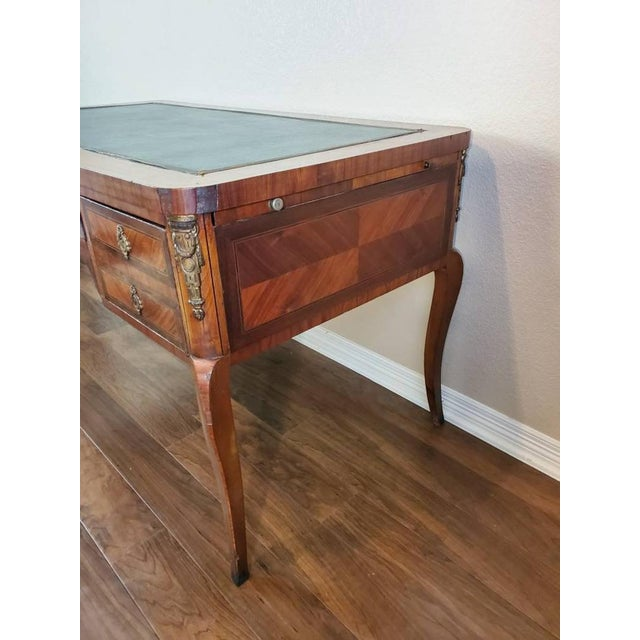 1920s French Louis XVI Bureau Plat Writing Desk For Sale - Image 9 of 13