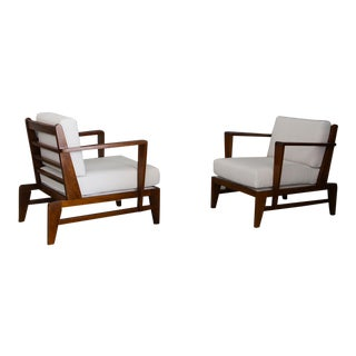Rare Armchairs by René Gabriel Mod Rg178 For Sale