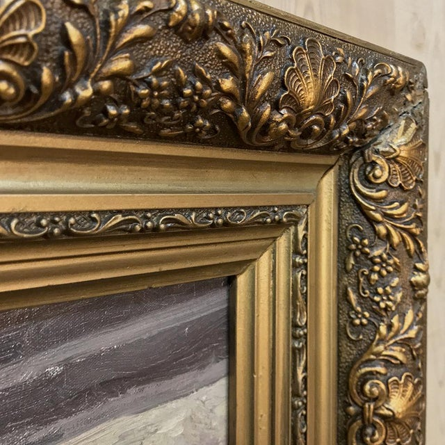 Antique Framed Oil Painting on Canvas by Victor Waegemaeckers For Sale - Image 9 of 12