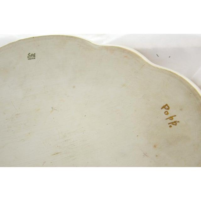 1900 - 1909 Antique Limoges Floral Tray For Sale - Image 5 of 7